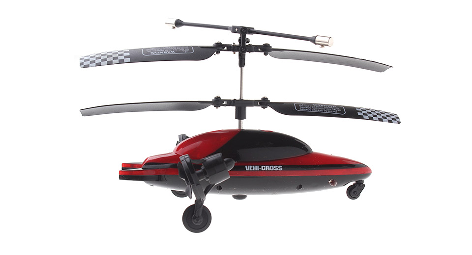 VEHI-CROSS 3-Channel Infrared R/C Helicopter / Flying Car