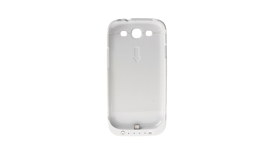 3200mAh Rechargeable External Battery Back Case for Samsung Galaxy S3 i9300