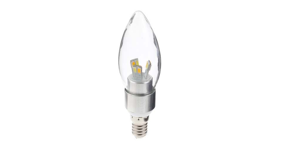 E14 4W 12-LED 300LM 3-Color Light LED Candle Light Bulb