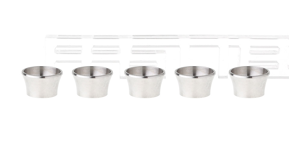 Stainless Steel eGo Beauty Ring (5-Pack)
