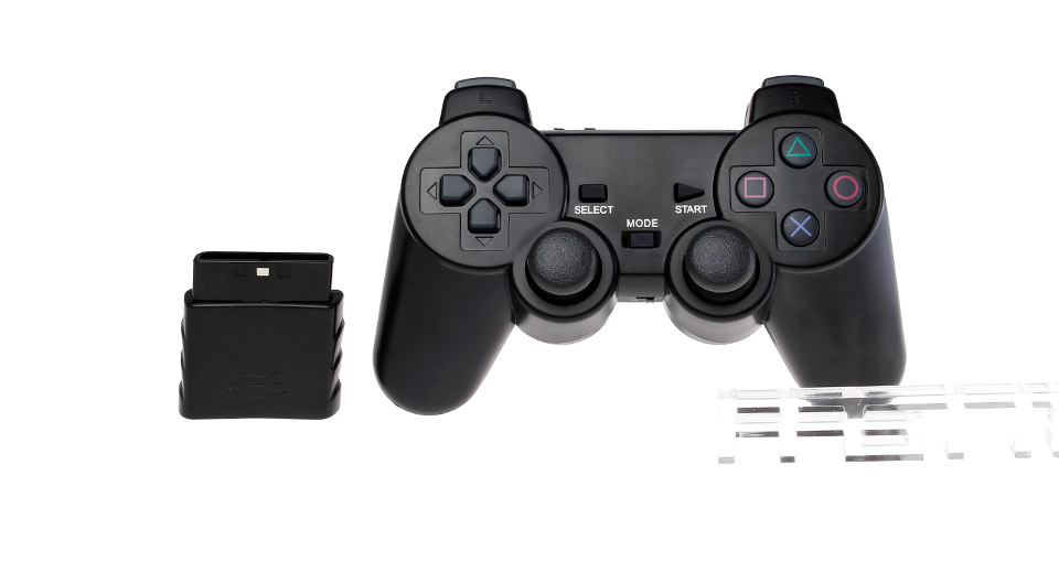 Image of 2.4GHz Wireless Dual Shock Game Controller for PS2