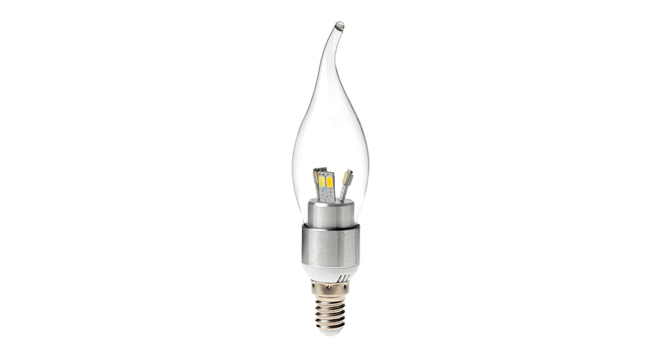 E14 4W 12-LED 350LM 3-Color Light LED Candle Light Bulb