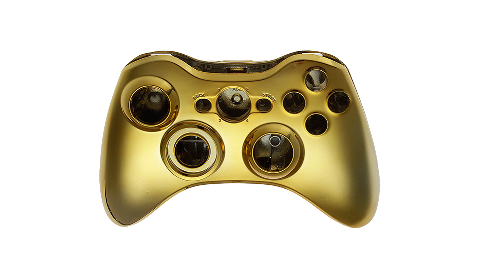 Image of Electroplating Housing Case Kit for Xbox 360 Wireless Controller