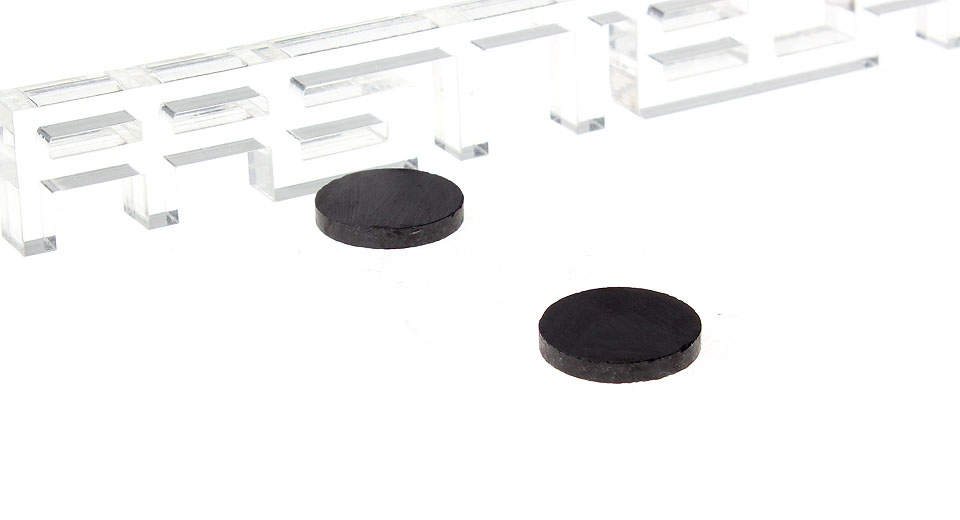 20mm*20mm*3mm Ferrite Disc Magnets (2-Pack)