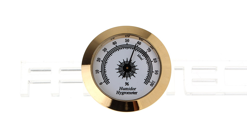 Image of Round Stainless Steel Tobacco Cigar Humidor Hygrometer