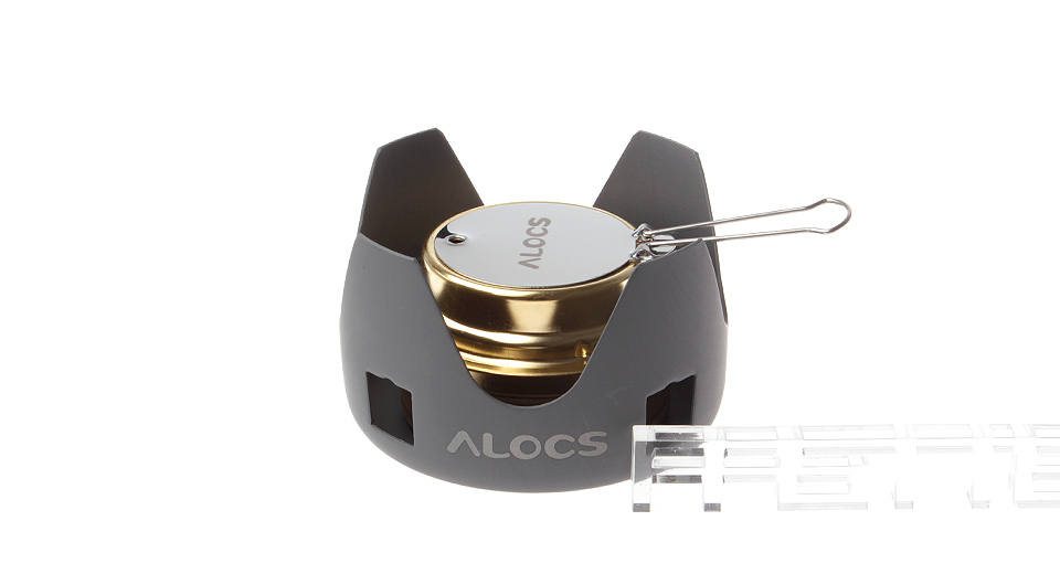 Image of ALOCS CS-B02 Portable Camping Alcohol Stove w/ Net Pouch
