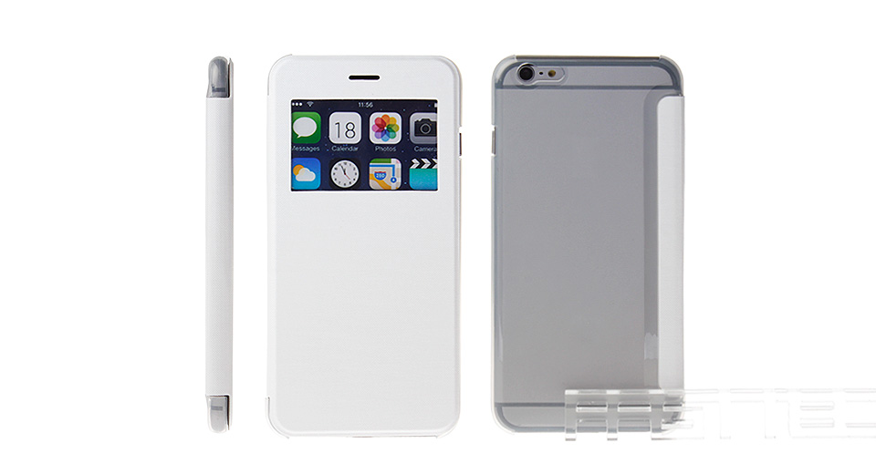 Protective PU + PC Flip-Open Case for iPhone 6 Plus