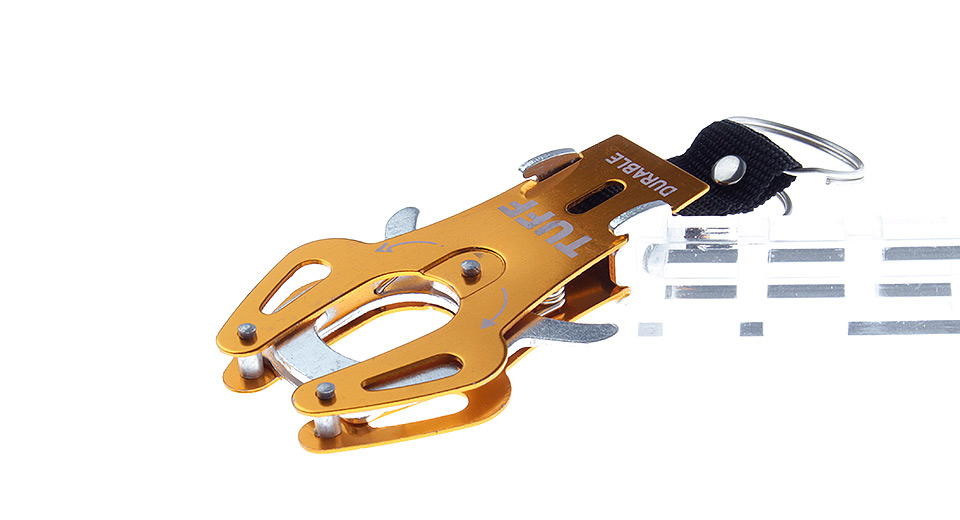 TUFF Portable Outdoor Hiking Aluminum Alloy Carabiner Buckle (Size XL)
