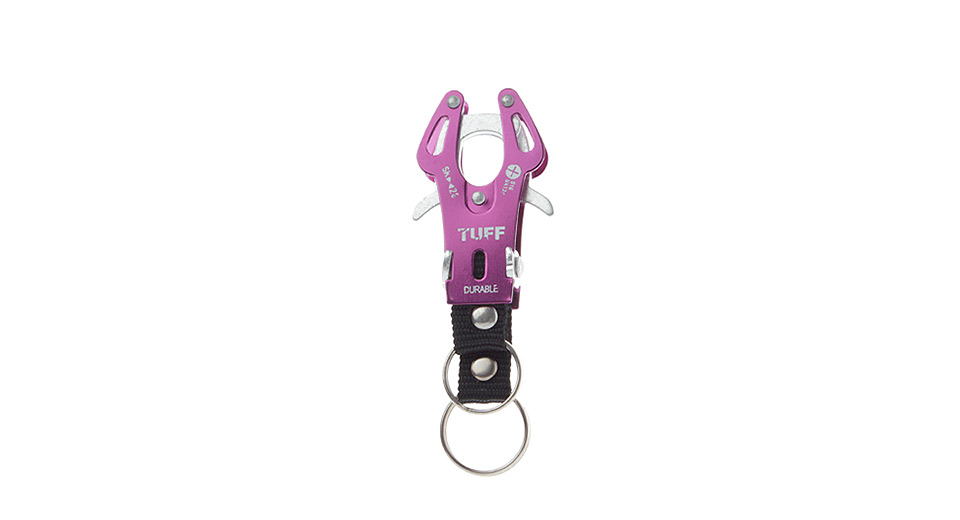 TUFF Portable Outdoor Hiking Aluminum Alloy Carabiner Buckle (Size S)
