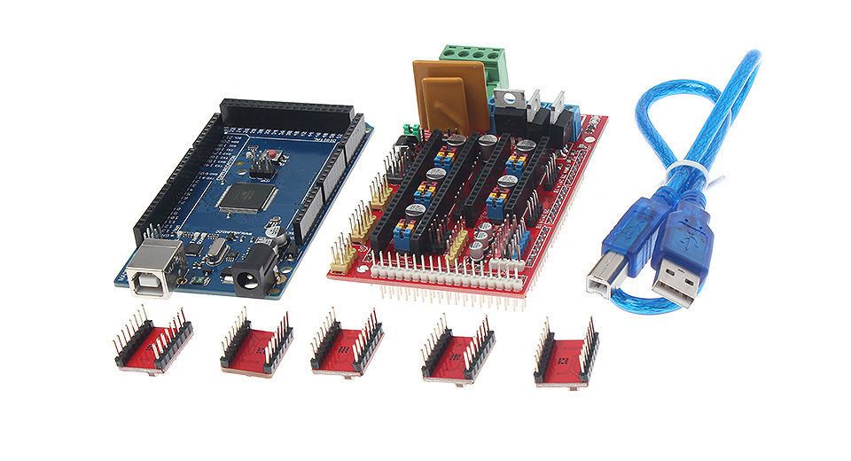 3D Printer Arduino Compatible Mega2560 R3 + RAMPS 1.4 Control Boards Kit w/ 4988 Drivers