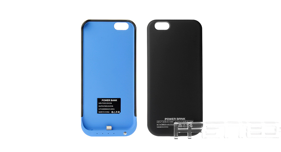 3200mAh Rechargeable External Battery Back Case for iPhone 6