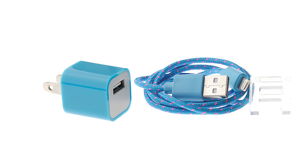 Product Image: single-usb-ac-power-adapter-usb-braided-cable-for