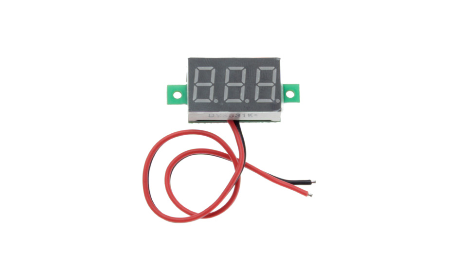 "V20D 0.36"" LED Two Line 3-Digital Direct-Current Volt Meter Module"