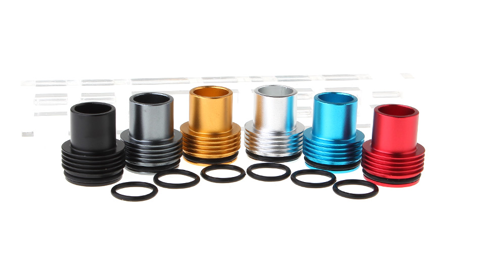 2-in-1 Drip Tip + Top Cap for Tobh Atty V2 RDA Atomizers (6-Pack)