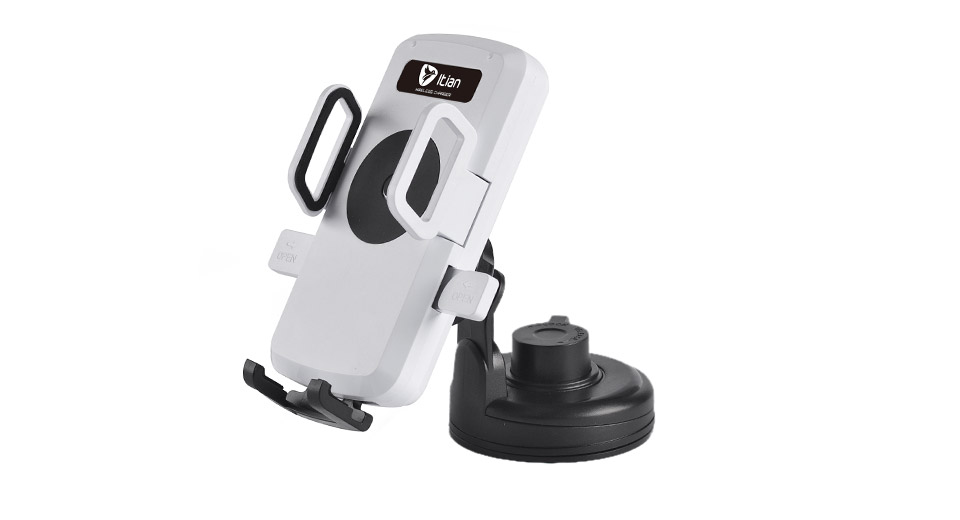 Authentic Itian C1 Qi Vehicles Car Wireless Charging Transmitter w/ Holder