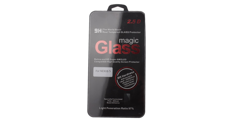 Image of 0.2mm Thin Tempered Glass Screen Protector for Google Nexus 5