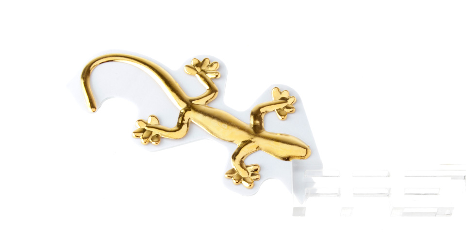 Gecko Shaped Universal Metal Car Decoration Sticker