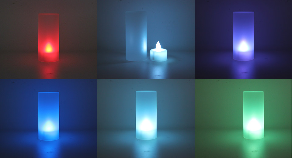 Battery Powered Multicolor LED Candle Table Light