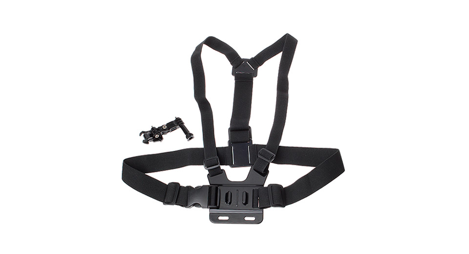 GP25-1 Chest Mount Harness w/ Three-dimensional Adjustable Mount Base for GoPro