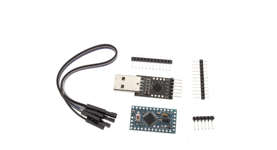 Microcontroller Board + CP2102 Module + DuPont Cable + Pin Headers for Arduino
