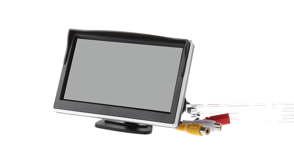 5 TFT LCD Screen Rearview Monitor w/ Bracket for Car Vehicle