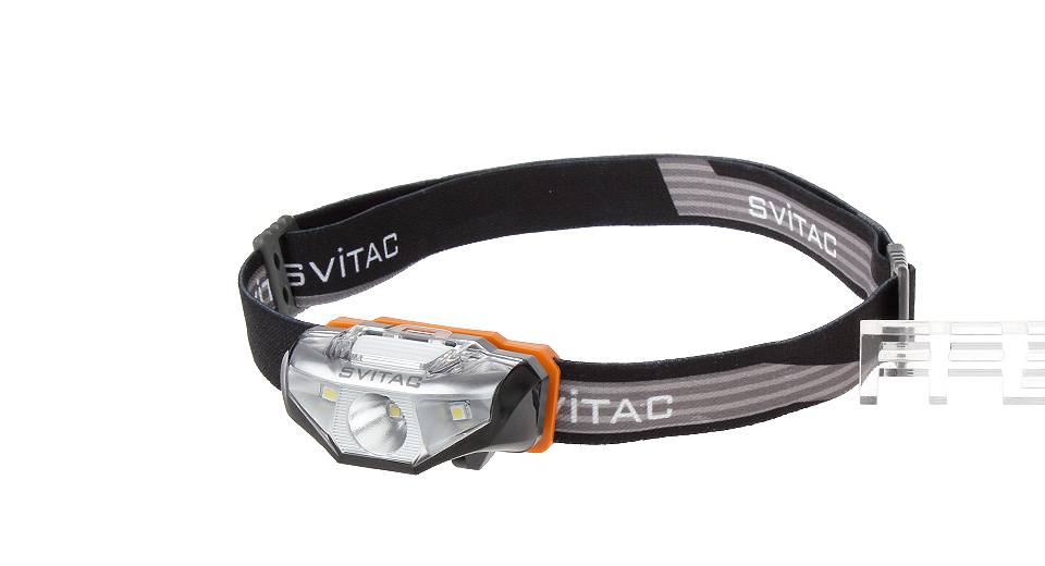 SVITAC ST-H2 LED Headlamp, ST-H2, 3200K + 6000K, Black