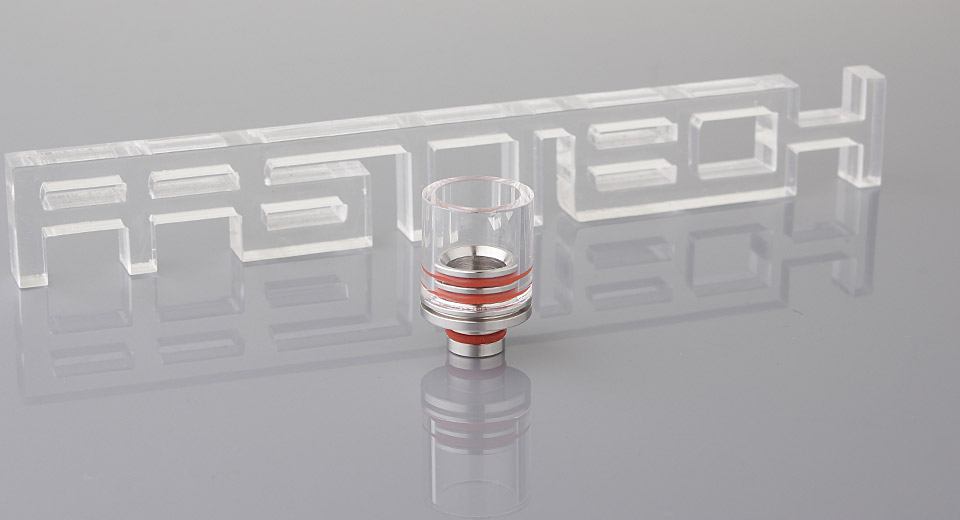 Image of 16mm Wide Bore Glass + Stainless Steel 510 Drip Tip