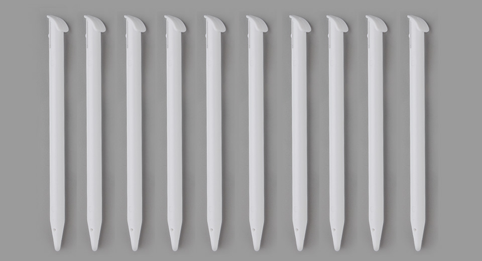Plastic Stylus Touch Pens for New 3DS LL (10-Pack)