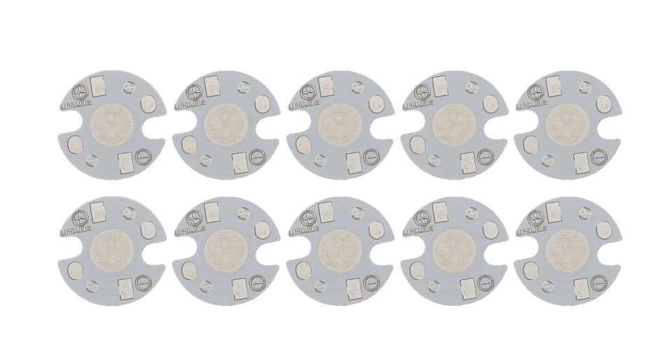 16mm Heat Sink Aluminum Base Plate for LED Emitters (10-Pack) 16mm, White, 10-Pack