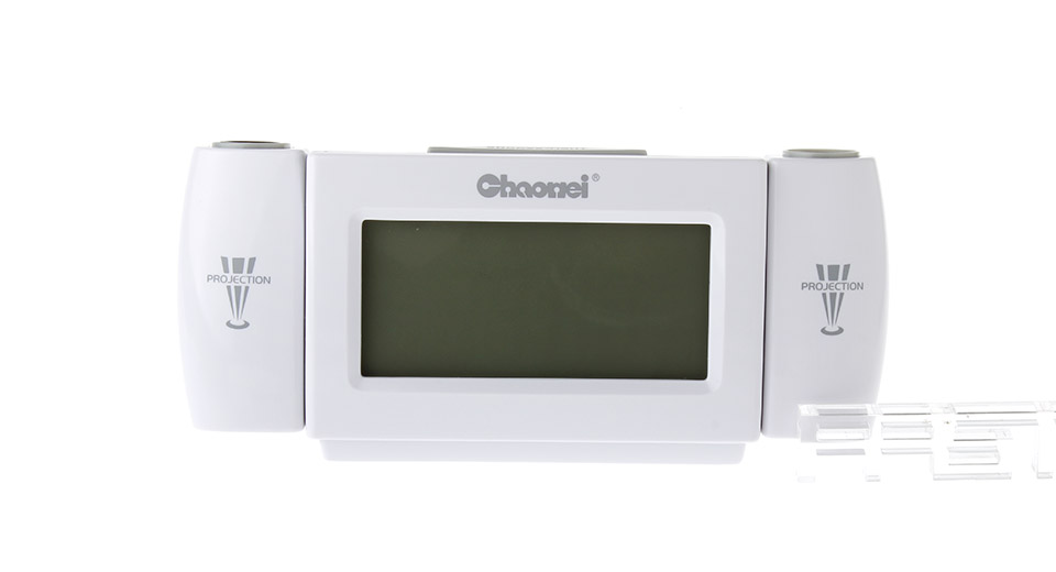 Voice Controled Multi-function Alarm Clock w/ Temperature & Time Projector