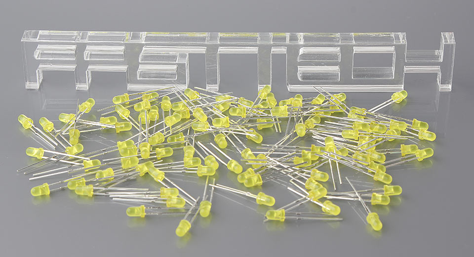 3mm Yellow LED Light Emitting Diodes (100-Pack)