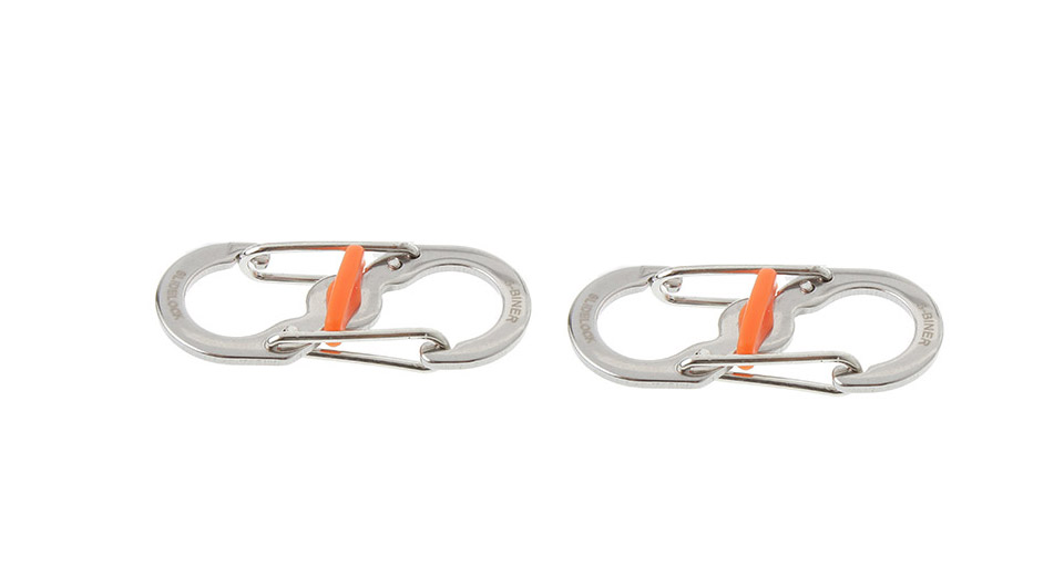 S-Shaped Stainless Steel Anti-theft S-biner Carabiner (2-Pack)