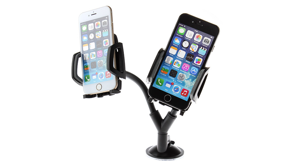 iMOUNT Car Suction Cup Dual Holders Stand for Cellphones