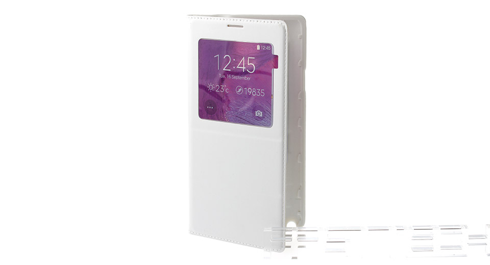 Qi Inductive Wireless Charging Receiver Flip-Open Case for Samsung Galaxy Note 4