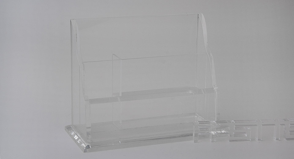 Multifunctional Acrylic Display Stand for Files / Name Card Case / Pens