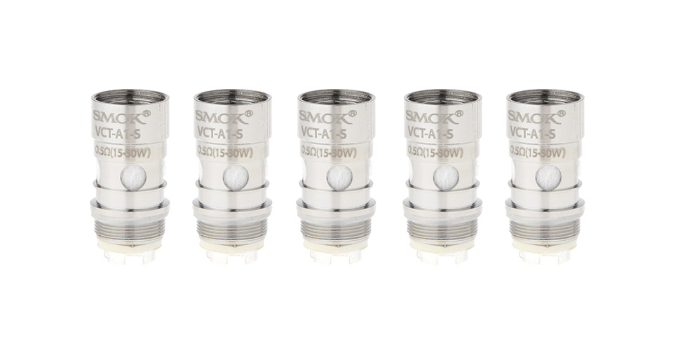 Image of Authentic Smoktech SMOK VCT A1 Sub Ohm Clearomizer Replacement Coil Head (5-Pack)