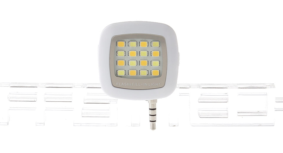 Image of 16*3528 50LM 3-Mode Camera Video Night Fill Light for Cell Phones (3.5mm Jack)
