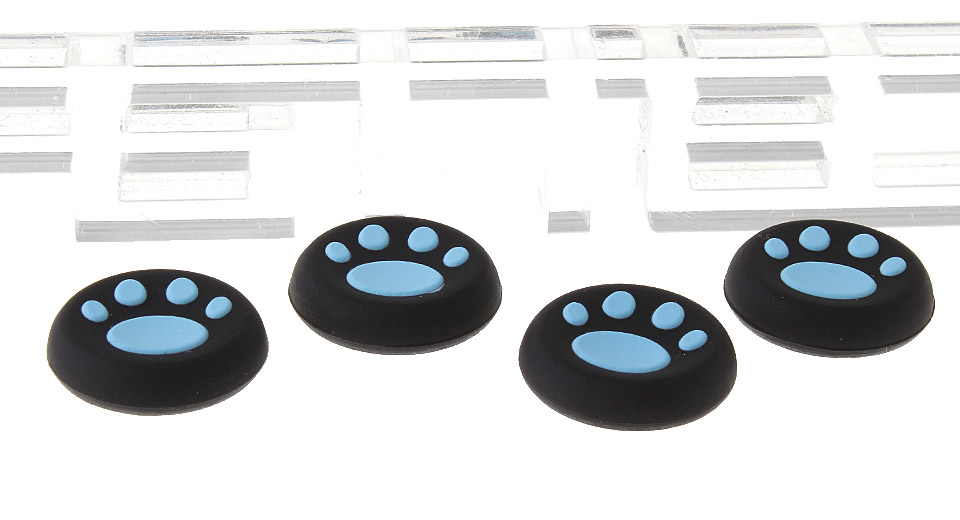 Cat Paw Styled Silicone Anti-slip Joystick Caps for PS4 / PS3 / PS2 / Xbox One / Xbox 360 (4-Pack)