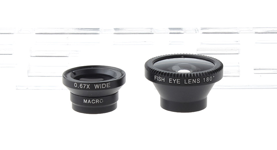3-in-1 Magnetic FishEye + Wide Angle + Macro Lens Set for Cellphones