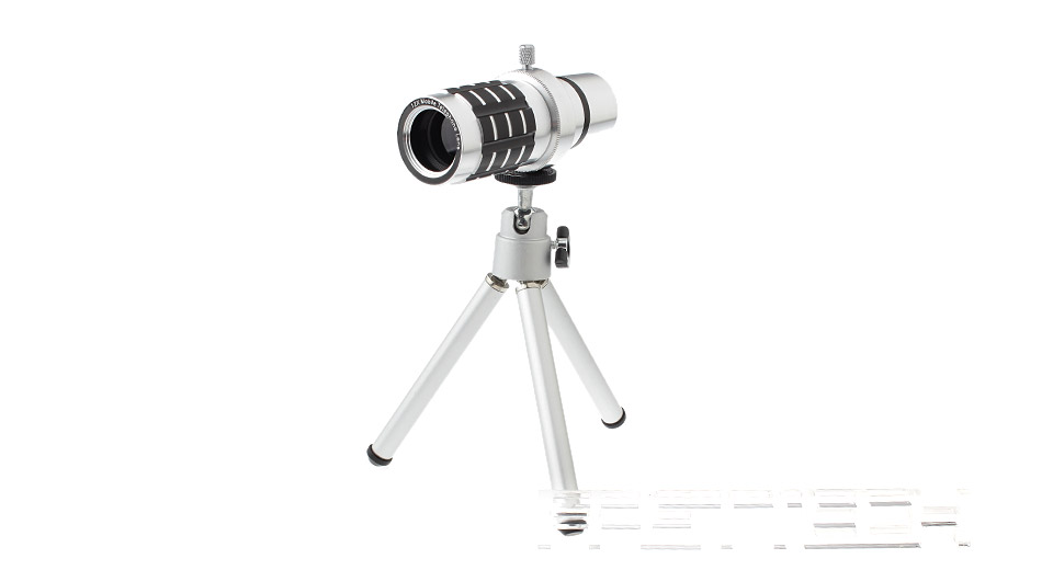 Image of 12X Mobile Phone Telephoto Lens w/ Tripod for iPhone 6