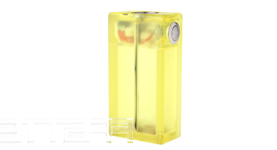 ABS 2*18650 Mechanical Box Mod, ABS, 2*18650, Yellow