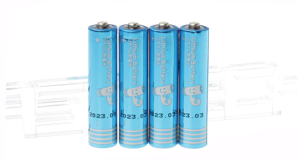 Image of 1.5V 1100mAh Disposable AAA Lithium Batteries (4-Piece)