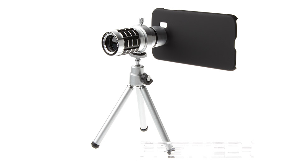 Image of 12X Mobile Phone Telephoto Lens w/ Tripod for Samsung Galaxy S6