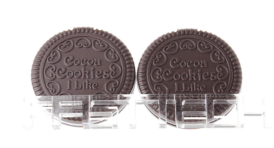 Image of Chocolate Cookies Shaped Mini Comb + Mirror Set (2-Pack)