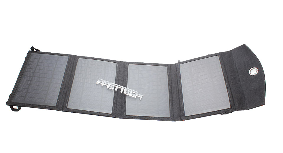 4-in-1 14W Folded Solar Power Panel Mobile Phone Charger