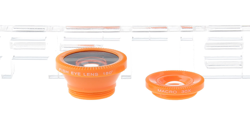 VS-018 3-in-1 Universal Clip-On Fisheye + Wide Angle + Macro Lens Set