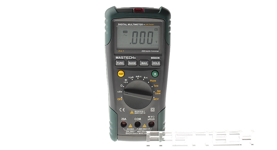 "MASTECH MS8236 2.48"" LCD Digital Network Multimeter, MS8236, Black + Green"