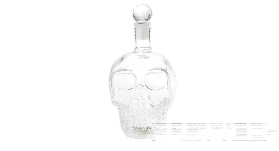 Skull Head Styled Glass Wine Decanter