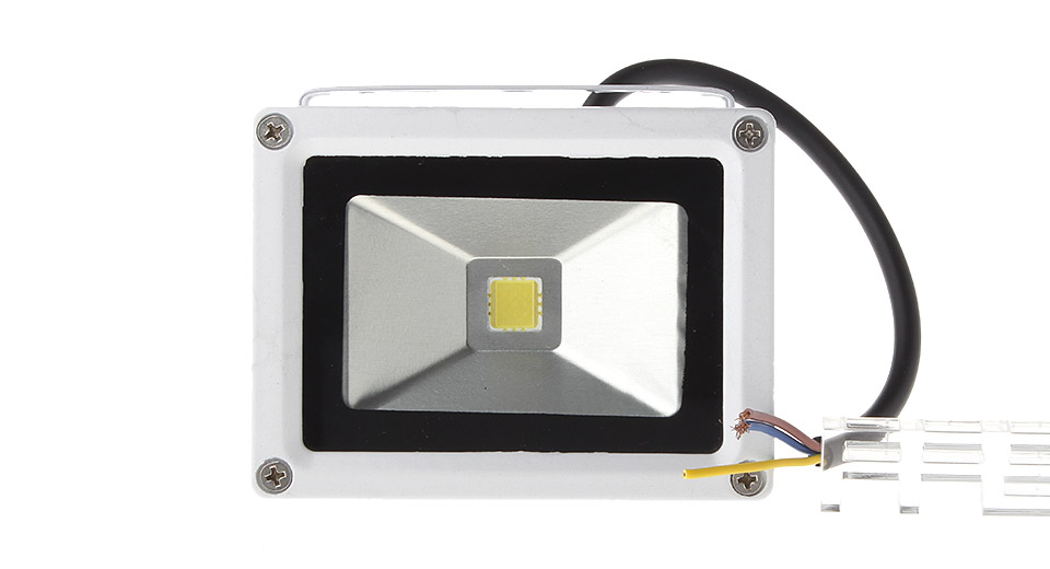 10W 1*COB 900LM 6000-6500K Pure White Outdoor LED Floodlight