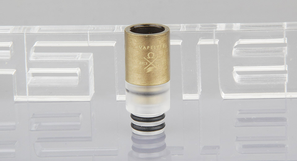 Image of 2-in-1 Brass Plated Stainless Steel + Plastic Hybrid 510 Drip Tip